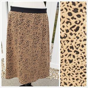 🆕Cato Cheetah Print Black Tan Spring Pencil Skirt